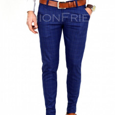 Pantaloni tip ZARA albastrii - pantaloni barbati - pantaloni office - 7727A, Marime: 29, 30, 31, 33, 34, Culoare: Din imagine