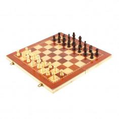 Tabla de sah 3 in 1, 49 x 49 cm, lemn