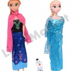 Set papusi Anna si Elsa Frozen 28 cm - Papusa Disney, 4-6 ani