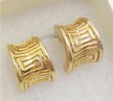 OFERTA- Cercei  CLIPS gama VERSACE placati cu aur galben 18k