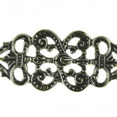 Brosa argint veche, design inspiratie stil rocaille, marcata designer german BAS