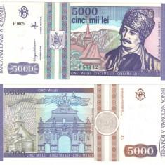 SV * Romania  BNR  5000  LEI  1993  mai   < Avram Iancu >     UNC