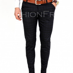 Pantaloni negri - pantaloni barbati - pantaloni office - 7731A, Marime: 29, 30, Culoare: Din imagine