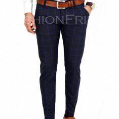Pantaloni carouri - pantaloni barbati - pantaloni office - 7729A, Marime: 30, 31, 34, Culoare: Din imagine