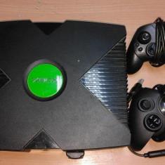 Consola Xbox Microsoft Video Game clasic, joc TV, cu 2 manete/controllere