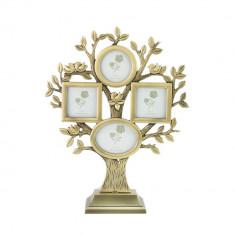 Rama foto Zada multipla, metalica, 26x20 cm, contur arbore
