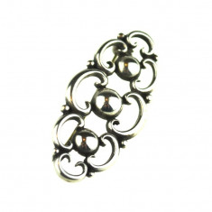 Brosa argint vintage, design minimalist inspiratie Art Deco, manufactura germana