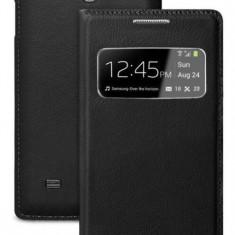 Husa Samsung Galaxy S4 i9500 S-VIEW Black Activa - Husa Telefon Samsung, Negru, Cu clapeta, Toc