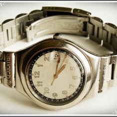 CEAS CU QUARTZ - SWATCH AG 1993 - SWISS MADE - STAINLESS STEEL, MODEL RETRO! - Ceas barbatesc Swatch, Casual, Inox, Data