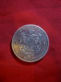 Moneda 5 Lei 1880 Carol I Domn , argint , cal. f.buna ,inscriptie sub gat