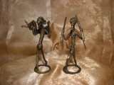 Unicat! Statuete bronz, stil brutalist, vintage
