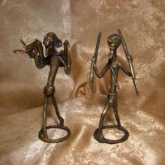 Unicat! Statuete bronz, stil brutalist, vintage - Sculptura