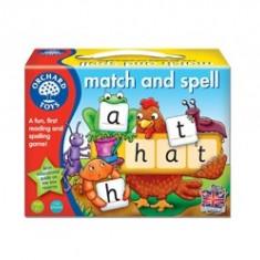 Joc educativ in limba engleza Potriveste si formeaza cuvinte MATCH AND SPELL orchard toys