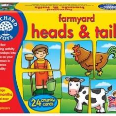 Joc educativ asociere Prietenii de la ferma FARMYARD HEADS & TAILS orchard toys