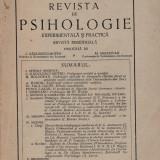 Revista de psihologie - an 1, nr. 2-3/1931 - Carte Psihologie
