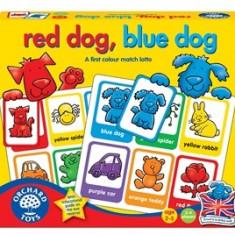 Joc educativ loto in limba engleza Catelusii RED DOG BLUE DOG orchard toys