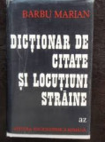 Barbu marian dictionar de citate si locutiuni straine