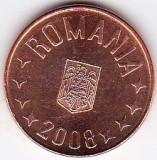 5 bani 2008 din fisic BNR  a.UNC/UNC rog cititi descrierea