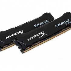 Memorie RAM Kingston, DIMM, DDR4, 32GB, 2400MHz, CL14, Kit 2*16GB, XMP HyperX Savage Black, 1.2V HX424C14SBK2/32