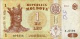 MOLDOVA 1 LEU 2013, F++ [2]