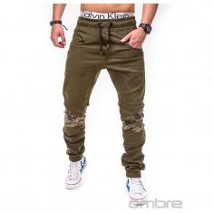 Pantaloni barbati P387 Verde SlimFit, model NOU, Marime: S, M, L, XXL, Lungi, Bumbac