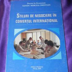 Stiluri de negociere in comertul international - Sandu Mircea (f0655