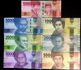 !!!  NOU  :  INDONEZIA  -   LOT  COMPLET ( 7 BANCNOTE)  2016  -  P  NEW   - UNC