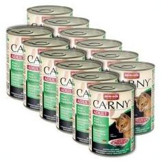 Hrană CARNY ADULT cu carne de vită, curcan şi carne de iepure - 12 x 400g - Hrana pisici