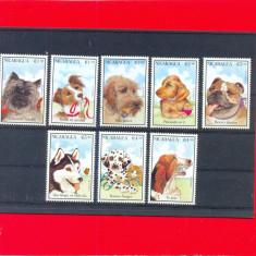ST-177=NICARAGUA 1988-Serie nestampilata de 8 timbre, tematica CAINI-MNH, Nestampilat
