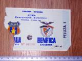 BILET FOTBAL STEAUA BENFICA 6 APRILIE 1988
