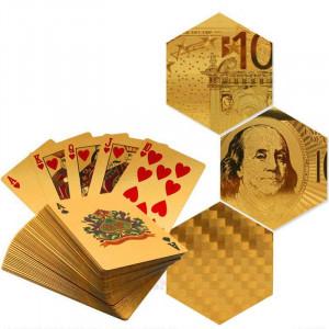 Carti Joc Poker Aurii / Placate Cu Aur 24K