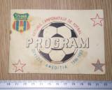 PROGRAM FOTBAL STEAUA- RETURUL CAMPIONATULUI DE FOTBAL 1986-1987