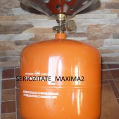 Butelie voiaj noua 7 L litri culoare galbena cu reductie GPL - Aragaz/Arzator camping