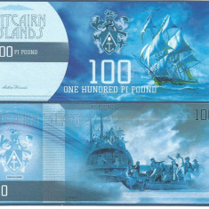 !!! PITCAIRN ISLANDS - LOT 100 + 500 POUNDS 2015 - UNC