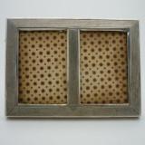 Rama Foto Veche din Lemn si Argint 800