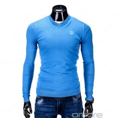 Bluza barbati E74 Bleu, Marime: L, XL, Anchior, Bumbac
