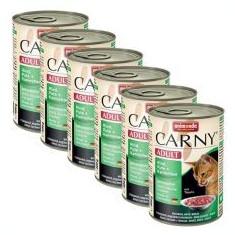 Hrană CARNY ADULT cu carne de vită, curcan şi carne de iepure - 6 x 400g - Hrana pisici