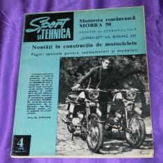 Sport si tehnica 1970 nr 4 mobra 50 aviatie radioamatori (f1024