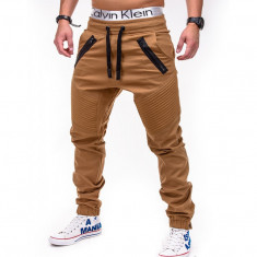 Pantaloni barbati P389 Camel, Marime: S, M, L, XL, XXL, Lungi, Bumbac