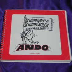 Schimbare schimbarilor caricatura politica - Ando Octavian Andronic autograf - Reviste benzi desenate