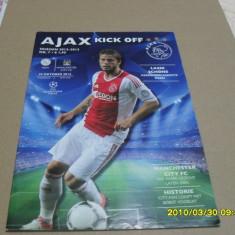Program Ajax - Manchester City - Program meci