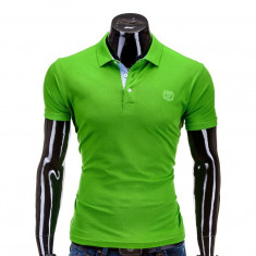 Tricou polo barbati S594 Verde - Tricou barbati, Marime: S, M, L, XL, Maneca scurta, Bumbac