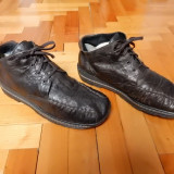 Pantofi din piele Rieker, interior captusit calduros; marime 42 (27 cm); ca noi
