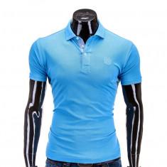 Tricou polo barbati S594 Bleu - Tricou barbati, Marime: S, M, XL, XXL, Maneca scurta, Bumbac