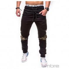 Pantaloni barbati P387 Negru SlimFit, model NOU, Marime: S, M, XXL, Lungi, Bumbac