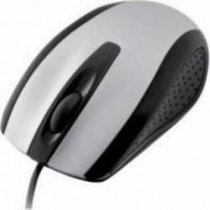 Mouse optic I-BOX FINCH, USB, argintiu