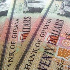 Lot/Set 3 Bancnote 20 Dolari - GUYANA, SERII CONSECUTIVE/necirculate! cod 386 - bancnota america, An: 2009