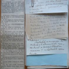 12 pagini de manuscris a unui ziarist interbelic neidentificat, Carol I - Autograf