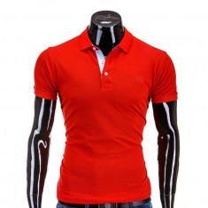 Tricou polo barbati S594 Roșu - Tricou barbati, Marime: S, M, L, XL, XXL, Maneca scurta, Bumbac