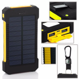 Baterie externa 20.000 mAh, Solar Power Bank Dual USB, Power Bank Charger, LED, iPhone 6 Plus